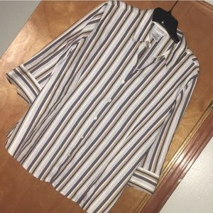 XL Multicolor Striped George Women's Shirt